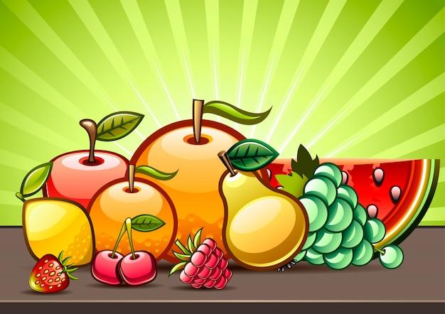 Ilustracja owoców