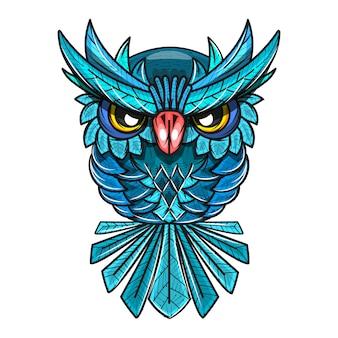 Ilustracja ozdobny sowa
