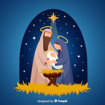 Ilustracja płaski Narodzenia