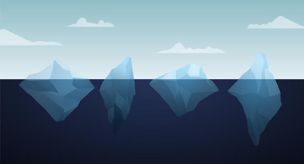 Ilustracja paczki góry lodowej
