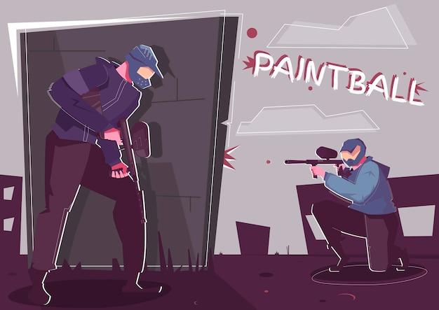 Ilustracja paintball