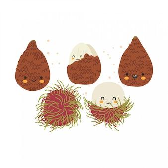 Ilustracja pakietu owoców tropikalnych