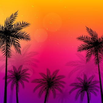 Ilustracja palmy beautifil