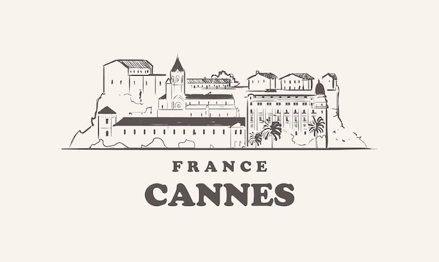 Ilustracja panoramę cannes