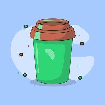 Ilustracja papierowej filiżanki kawy