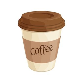 Ilustracja papierowy kubek kawy