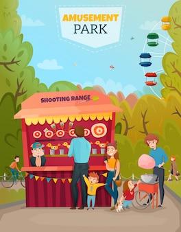 Ilustracja parku rozrywki