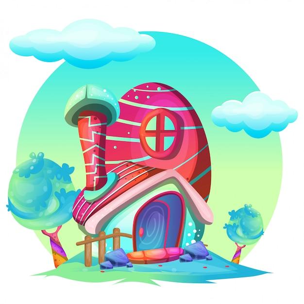 Ilustracja pieczarkowy dom