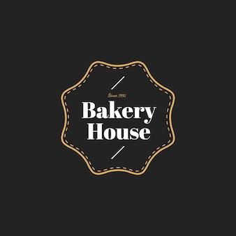 Ilustracja piekarnia domu znaczka sztandar