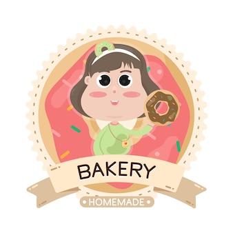 Ilustracja piekarnia etykiety żywności