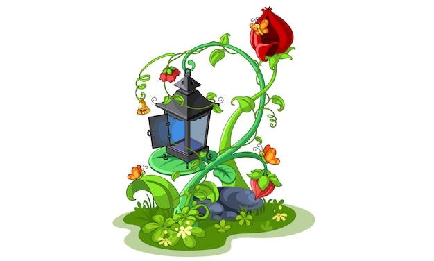 Ilustracja piękna latarnia wróżka