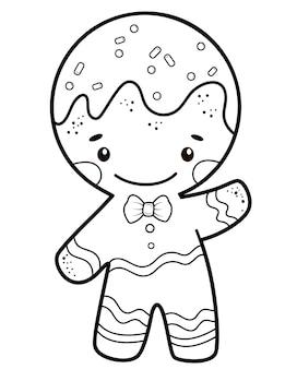 Ilustracja piernika do kolorowania