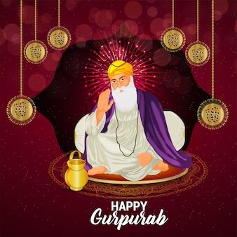 Ilustracja pierwszego sikh guru guru nanak dev ji