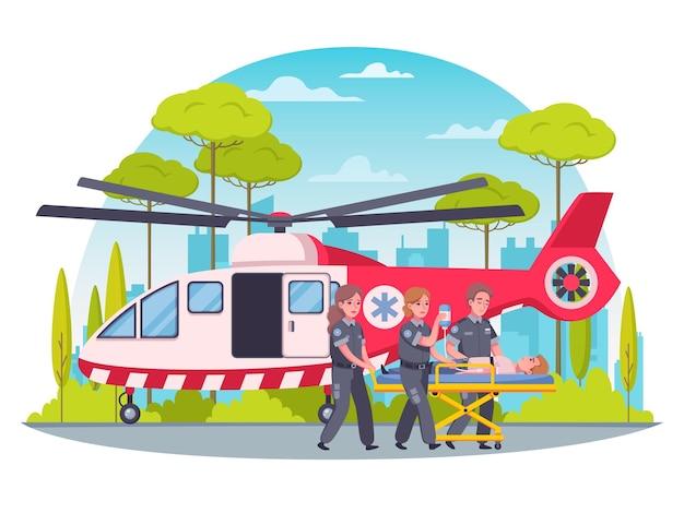 Ilustracja pierwszej pomocy ratownika medycznego