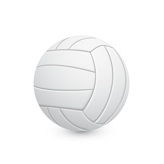 Ilustracja piłka do siatkówki na białym tle