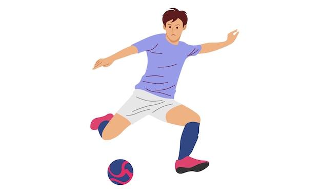 Ilustracja piłkarz