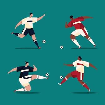 Ilustracja piłkarzy