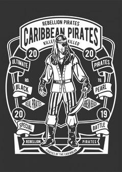 Ilustracja piratów karaibskich
