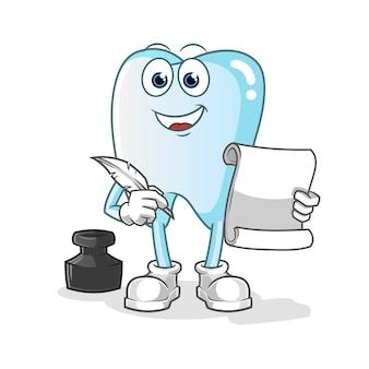 Ilustracja pisarz zębów