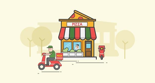 Ilustracja pizzy wektoru set