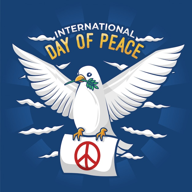 Ilustracja plakat międzynarodowego dnia pokoju