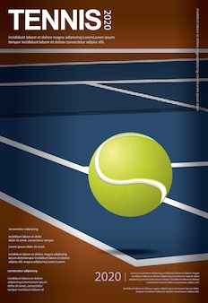 Ilustracja plakat mistrzostw tenisa