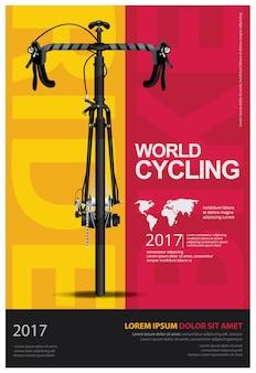 Ilustracja plakat na rowerze