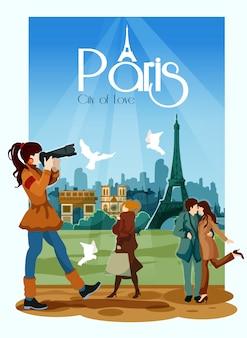 Ilustracja plakat paris