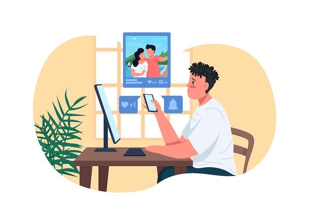 Ilustracja plakat samotność