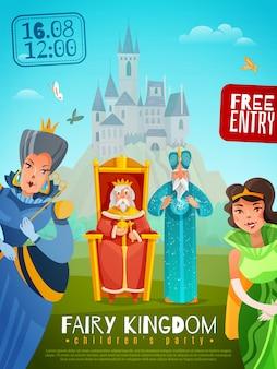 Ilustracja plakat wróżka królestwo