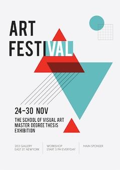 Ilustracja plakat wystawowy sztuki