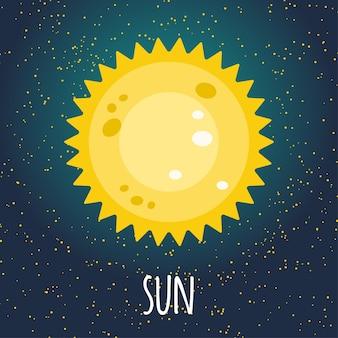 Ilustracja planety Słońce
