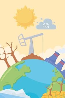 Ilustracja planety zmiany klimatu