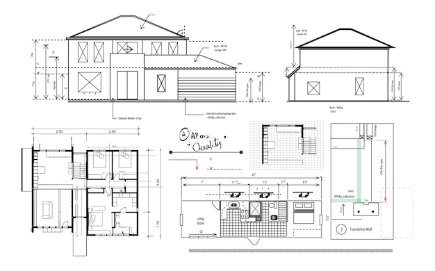 Ilustracja planowania domu