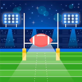 Ilustracja płaska konstrukcja futbolu amerykańskiego
