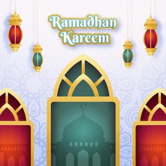 Ilustracja płaska ramadan kareem