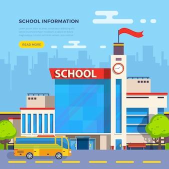 Ilustracja płaska szkoła