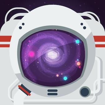 Ilustracja płaski astronauta