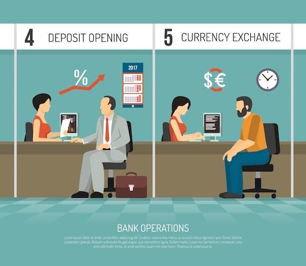 Ilustracja płaski bank