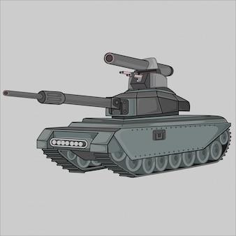 Ilustracja płaski czołg