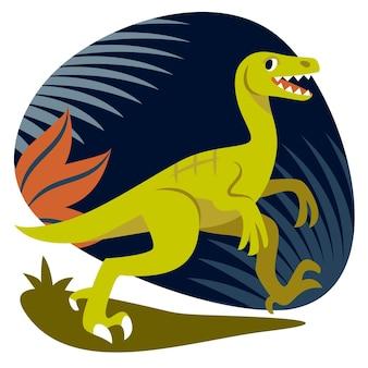 Ilustracja płaski dinozaur