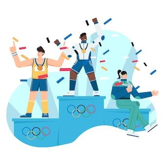 Ilustracja płaski mistrz liderów