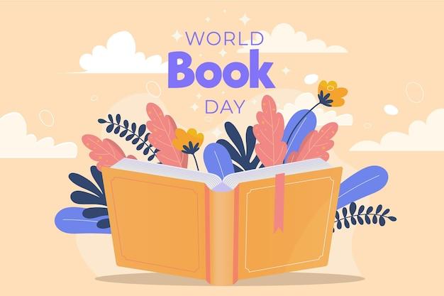 Ilustracja Płaski światowy Dzień Książki Darmowych Wektorów