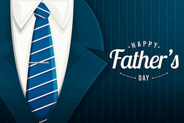 Ilustracja płaski szczęśliwy ojciec dzień