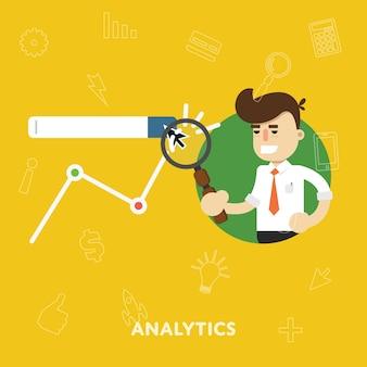 Ilustracja płaskie analizy