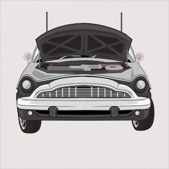 Ilustracja płaskiej konstrukcji samochodu