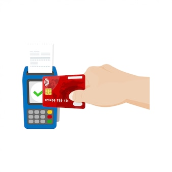 Ilustracja płatności zbliżeniowych