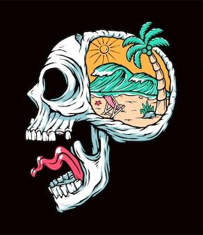 Ilustracja plaży w mojej głowie