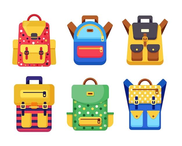 Ilustracja plecak dla dzieci
