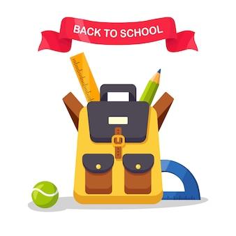 Ilustracja plecak szkolny